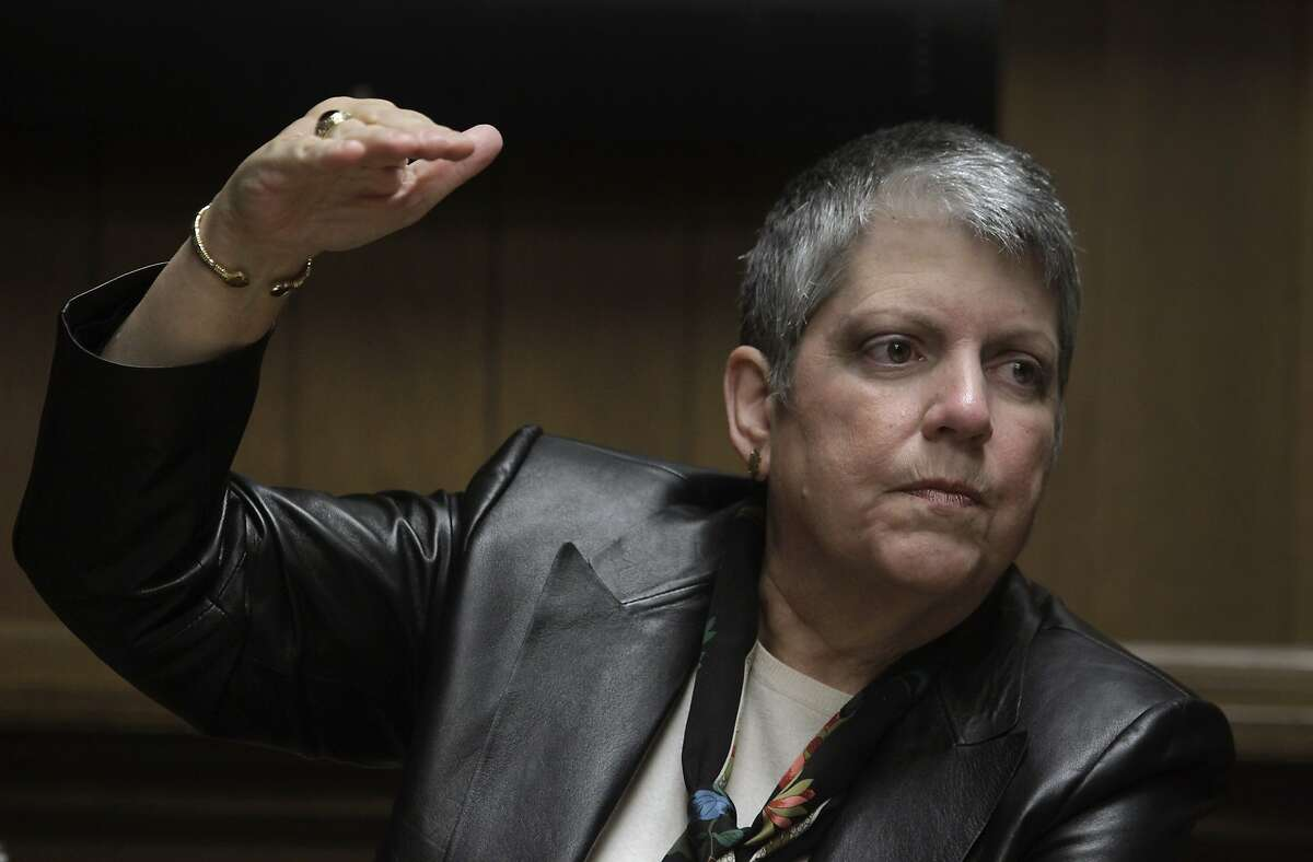 University of California President Janet Napolitano meets with the Chronicle Editorial Board in San Francisco, Calif. on Wednesday, Nov. 12, 2014.