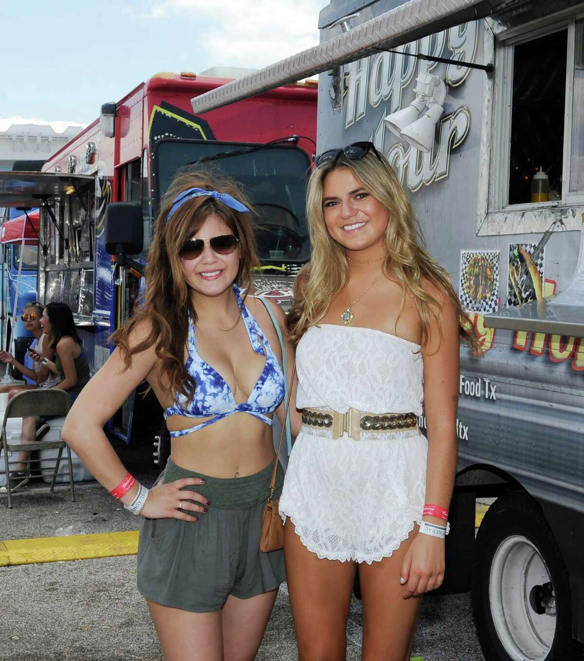Fans pose for a photo at Free Press Summer Fest Sunday, June 7, 2015, in Houston.