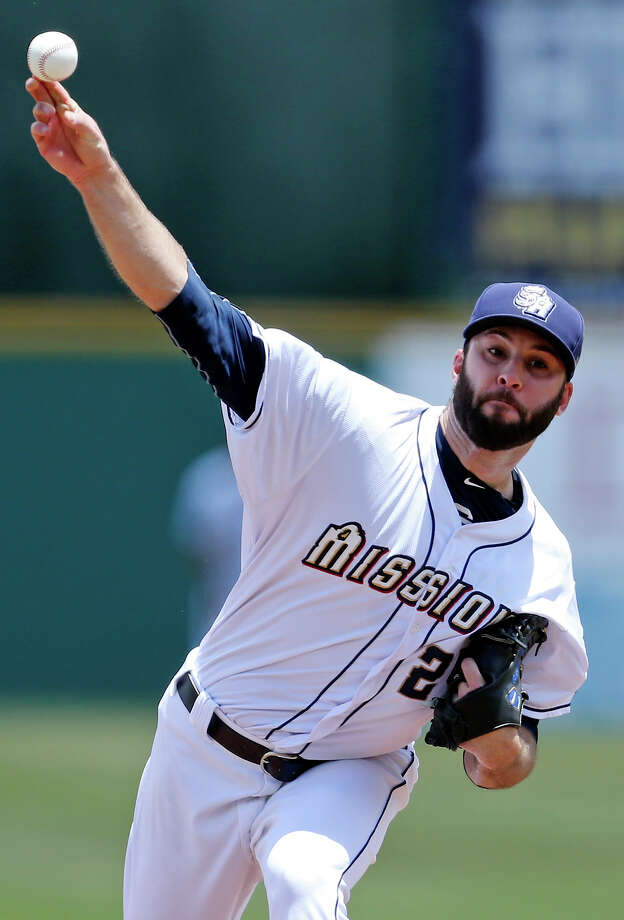 Missions' Brandon Morrow pitches against the Northwest Arkansas Naturals Sunday June 7, 2015 at Nelson W. Wolff Municipal Stadium. The Missions won 10-5. Photo: Edward A. Ornelas, Staff / San Antonio Express-News / © 2015 San Antonio Express-News