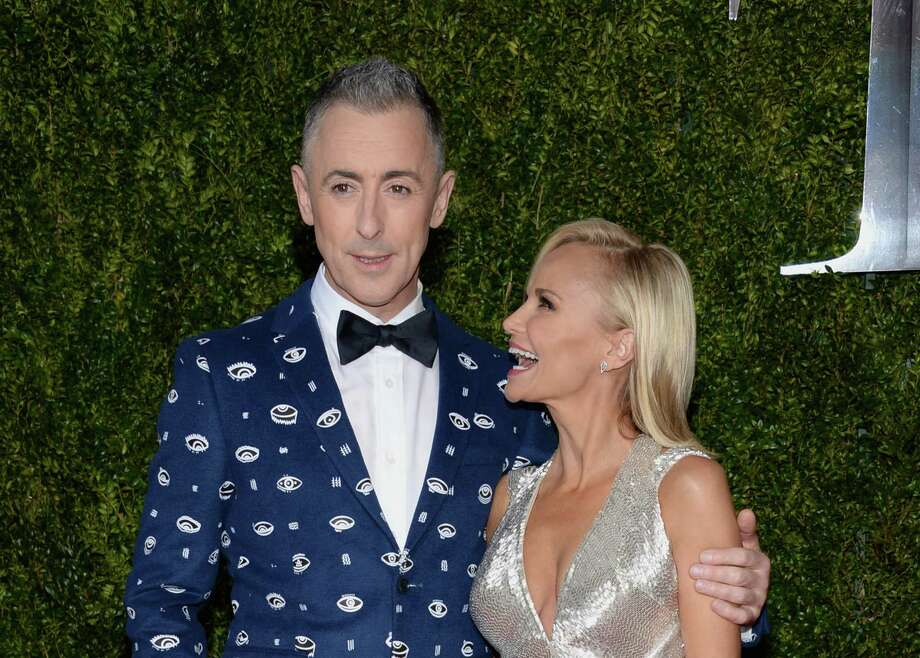 Alan Cumming, left, and Kristin Chenoweth arrive at the 69th annual Tony Awards at Radio City Music Hall on Sunday, June 7, 2015, in New York.  Photo: Evan Agostini, Evan Agostini/Invision/AP / Invision