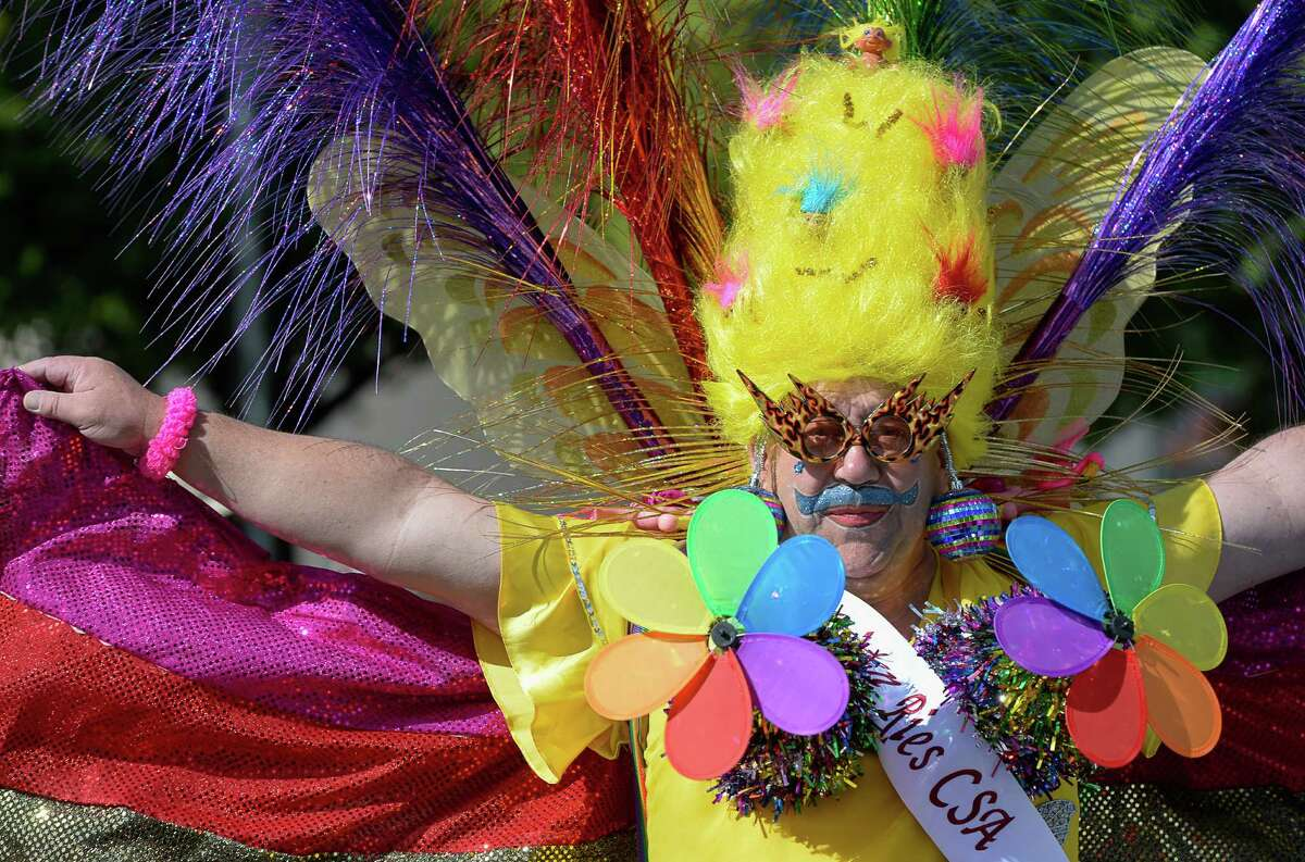 Petunia Papsmear participates in the Pride Parade in Salt Lake City, Sunday, June 7, 2015. (Francisco Kjolseth/The Salt Lake Tribune via AP)