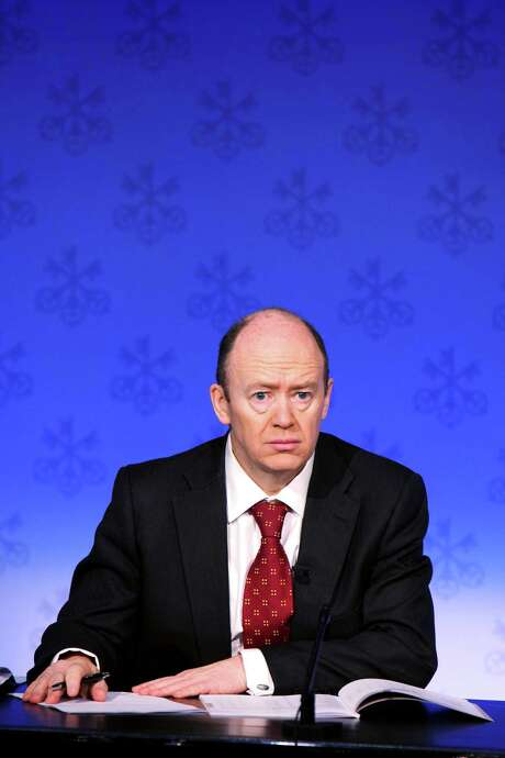 FILE PHOTO: John Cryan, then chief financial officer of UBS AG, pauses during a news conference in Zurich, Switzerland, on Tuesday, Feb. 8, 2011. Deutsche Bank AG appointed supervisory board member Cryan to replace co-Chief Executive Officers Anshu Jain and Juergen Fitschen after they lost the confidence of investors. Photographer: Gianluca Colla/Bloomberg *** Local Caption *** John Cryan Photo: Gianluca Colla / © 2011 Bloomberg Finance LP