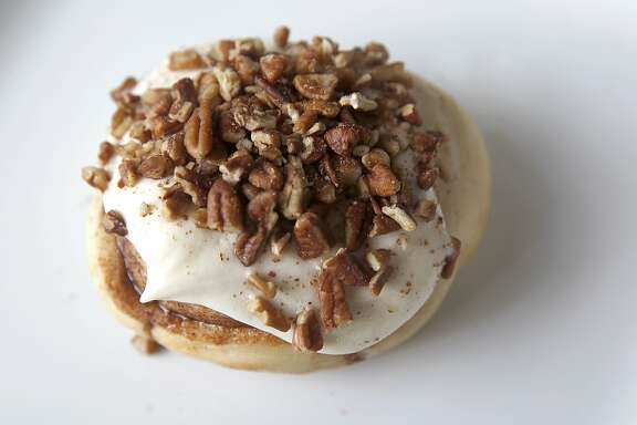 A butterscotch pecan cinnamon bun at Cinnaholic in Berkeley, California, on Tuesday, June 2, 2015.