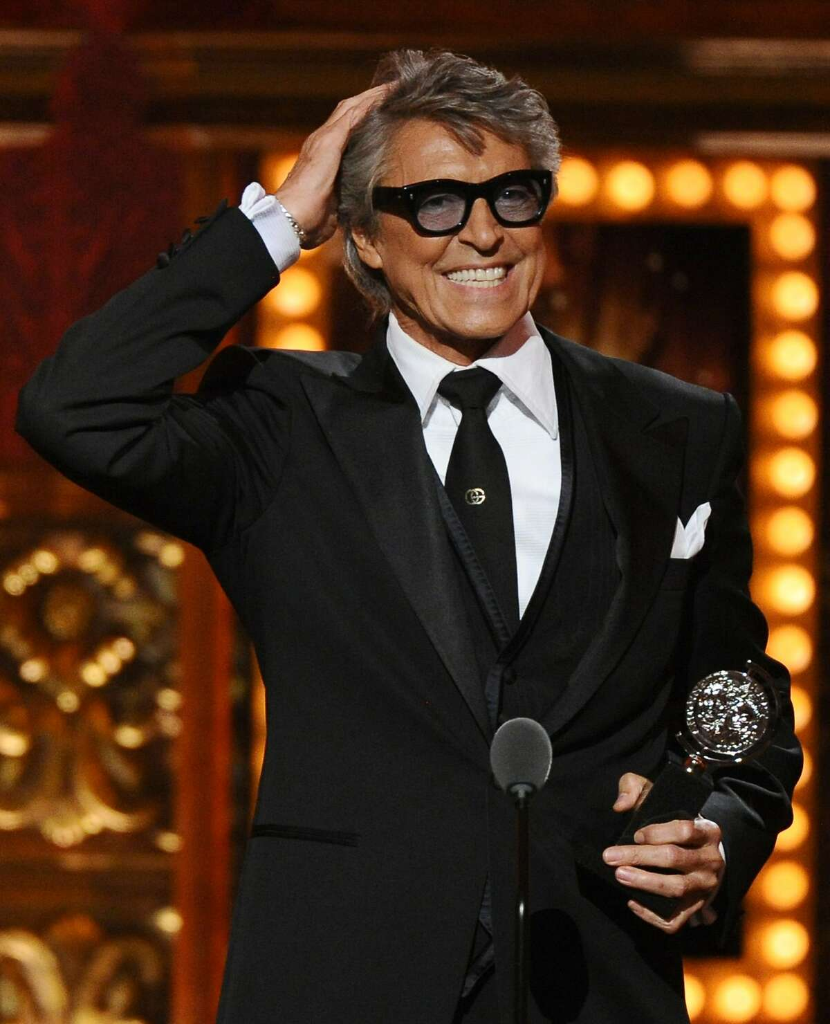 Tommy Tune accepts the Tony lifetime achievement award at the 69th annual Tony Awards at Radio City Music Hall on Sunday, June 7, 2015, in New York. (Photo by Charles Sykes/Invision/AP)