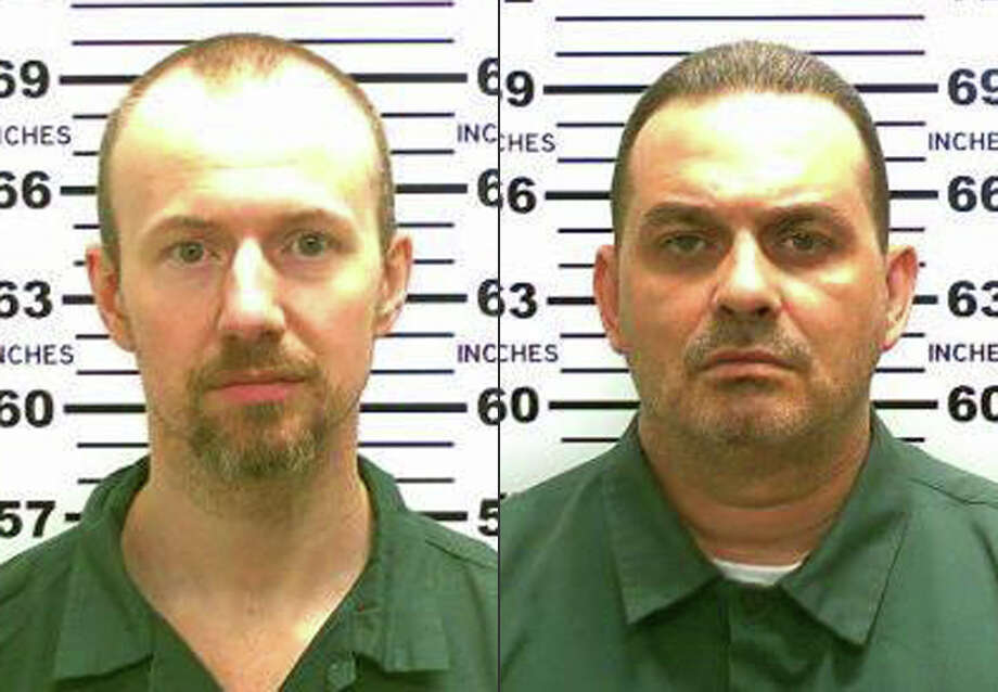 This combination made from photos released by the New York State Police shows inmates David Sweat, left, and Richard Matt. Authorities on Saturday, June 6, 2015 said Sweat, 34, and Matt, 48, both convicted murderers, escaped from the Clinton Correctional Facility in Dannemora, N.Y. (New York State Police via AP) Photo: Uncredited, HOGP / Associated Press / New York State Police