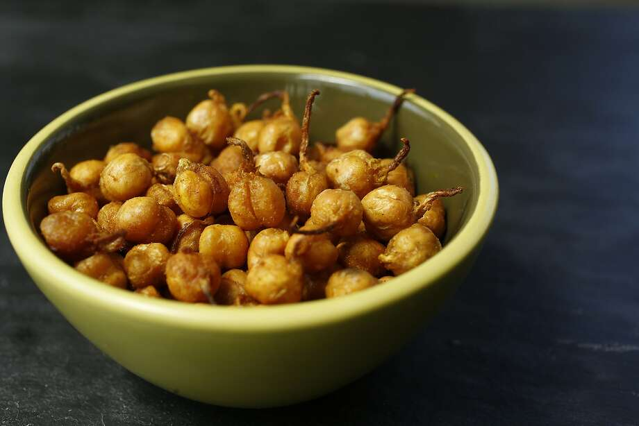 Roasted sprouted garbanzo beans made by Tara Duggan. Photo: Liz Hafalia, The Chronicle