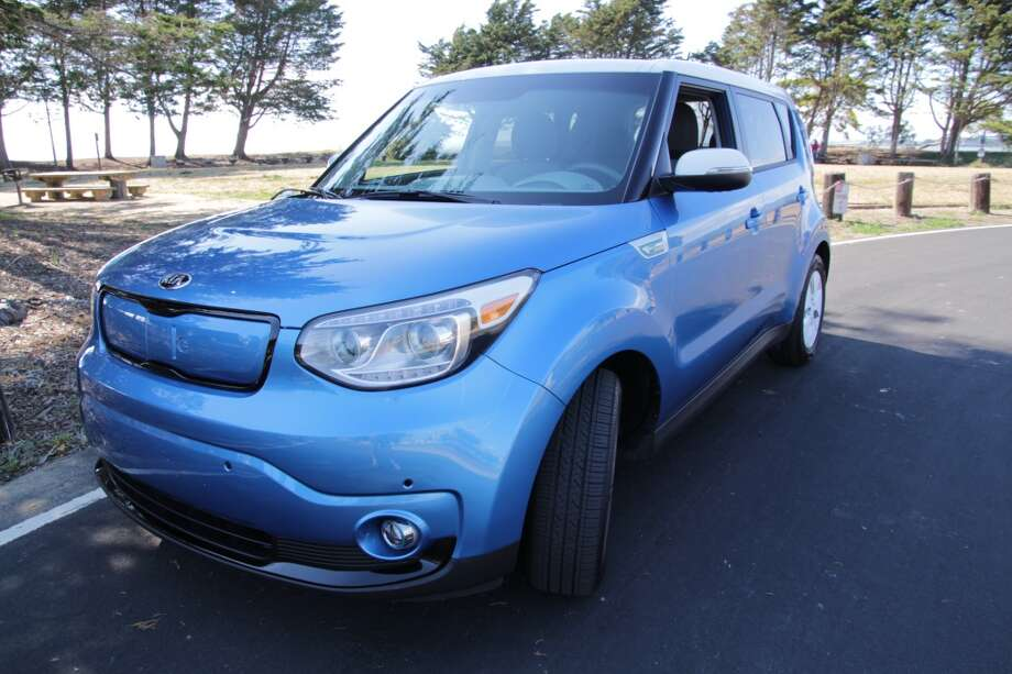 The 2015 Kia Soul EV costs a little over $36,000 and gets the electric car equivalent of 109 mpg. It has a range of about 93 miles when fully charged. (Photos by Michael Taylor)