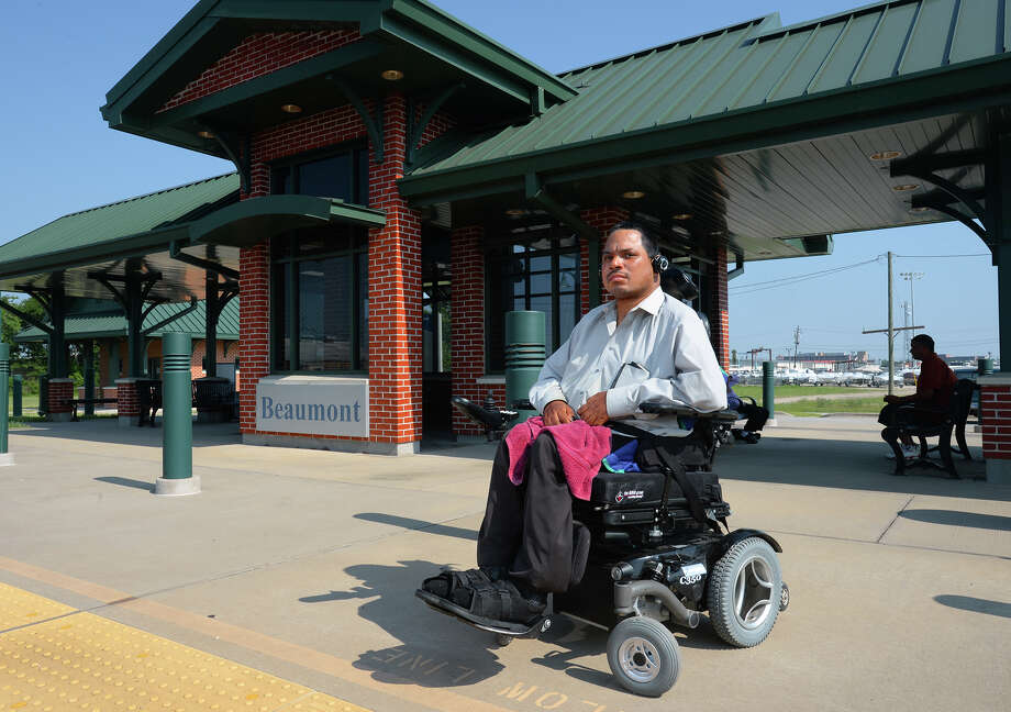 A finance employee for the City of Beaumont, Chris Lewis is being praised by city officials for being the driving force behind the construction of the Amtrak platform. Lewis, who is a fan of trains, was unable to board them from the former concrete slab that once served as the city's passenger load platform. 