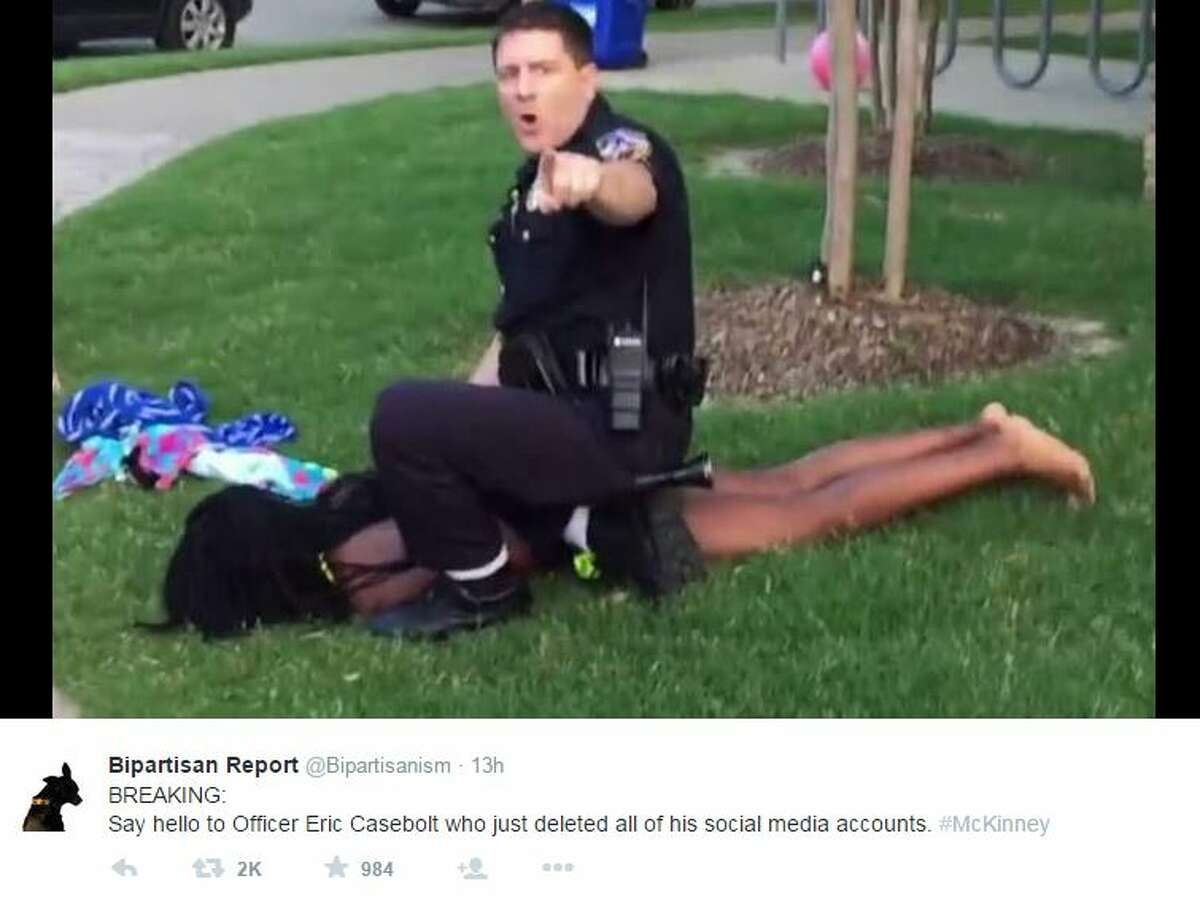McKinney Police Department officers respond to a call alleging a disturbance at a neighborhood pool.