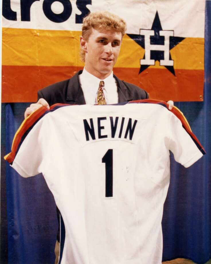 1992 - Phil NevinPicked: No. 1Position: 3BSchool: Cal. State Fullerton Photo: Buster Dean, Houston Chronicle