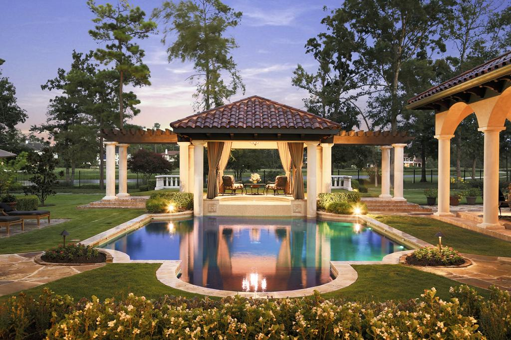 Mediterranean style homes in the houston area offer resort Mediterranean style homes houston