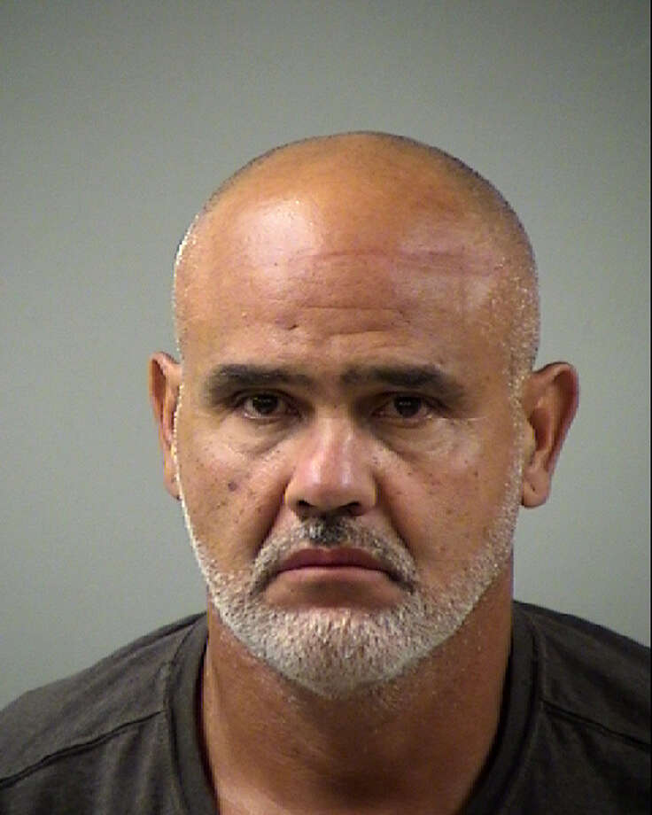 Eliezer Cruz, 54, was arrested Monday on a third-degree felony charge of assault on a public servant, a third-degree felony charge of driving while intoxicated third or more, a state jail felony charge of evading arrest or detention with a vehicle, and two misdemeanor charges. Photo: Bexar County Sheriff's Office