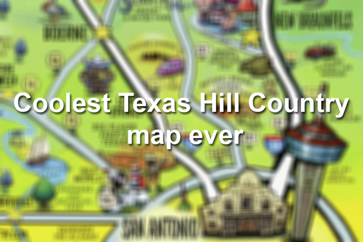 Check out close-up images of an awesome cartoon map of the Hill Country that may be the coolest map you've ever seen.