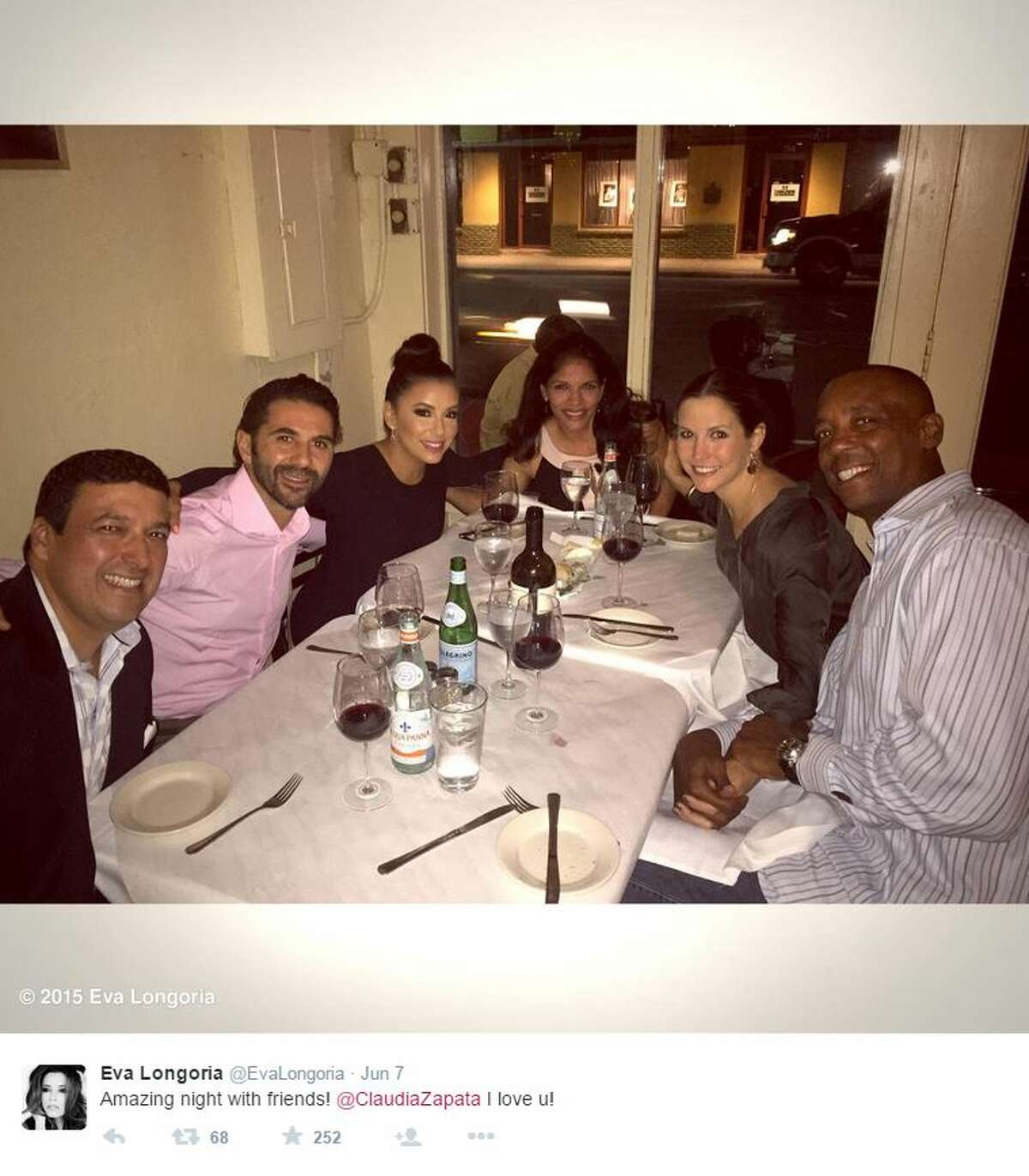 Longoria and her beau, Jose Baston, had dinner at Southown spot La Frite with Spur Sean Elliott and his wife.