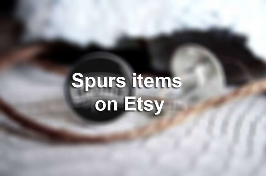 Spurs items on Etsy blur.