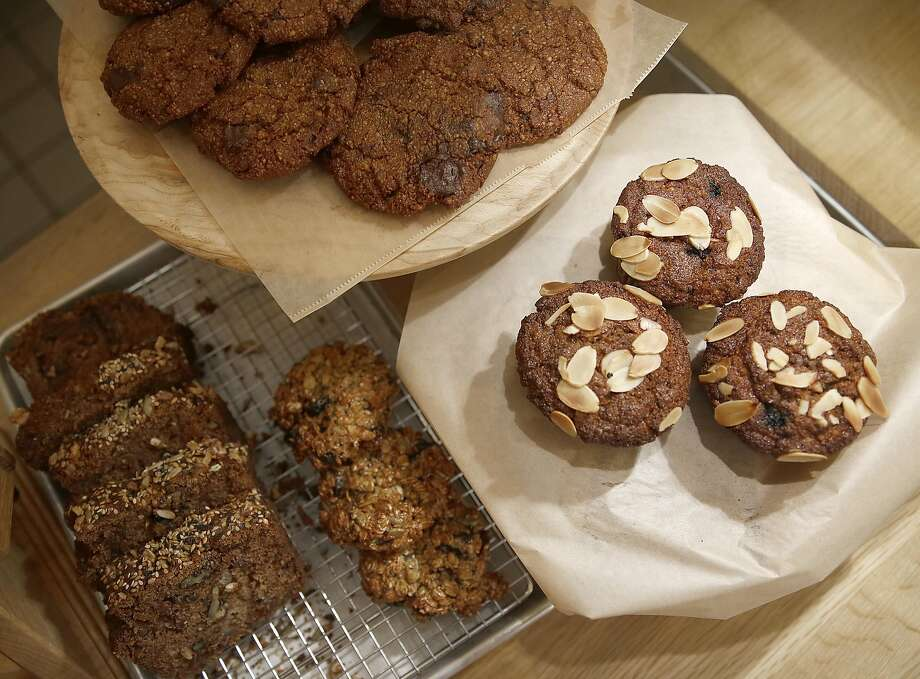 Gluten-free desserts are available at Seed + Salt in San Francisco, where regular customers love the almond chocolate-chip cookie. Photo: Liz Hafalia, The Chronicle