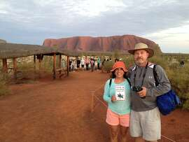 Don and Carol McIntyre at Uluru at sunrise.