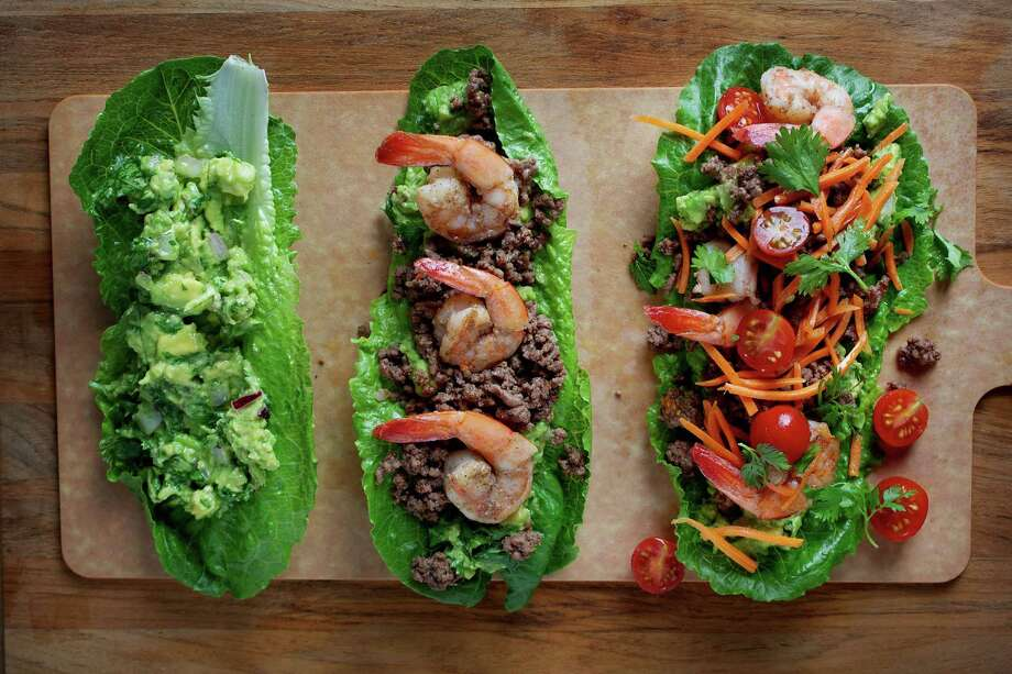 "Lettuce leaves stand in for tortillas — that's where the ""paleo comes in. Photo: Deb Lindsey / For The Washington Post / THE WASHINGTON POST"