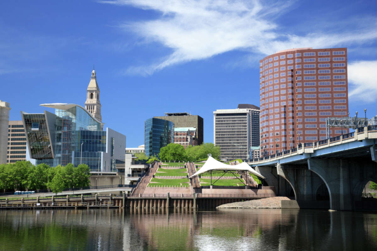 9. Hartford, CTMonthly income minus taxes and FICA: $7,035Monthly paycheck minus taxes, FICA 401(k), health insurance, DCFSA child savings: $5,678Monthly disposable income: $479Monthly housing cost: $1,880Monthly transportation cost: $1,294Source: magnifymoney.com