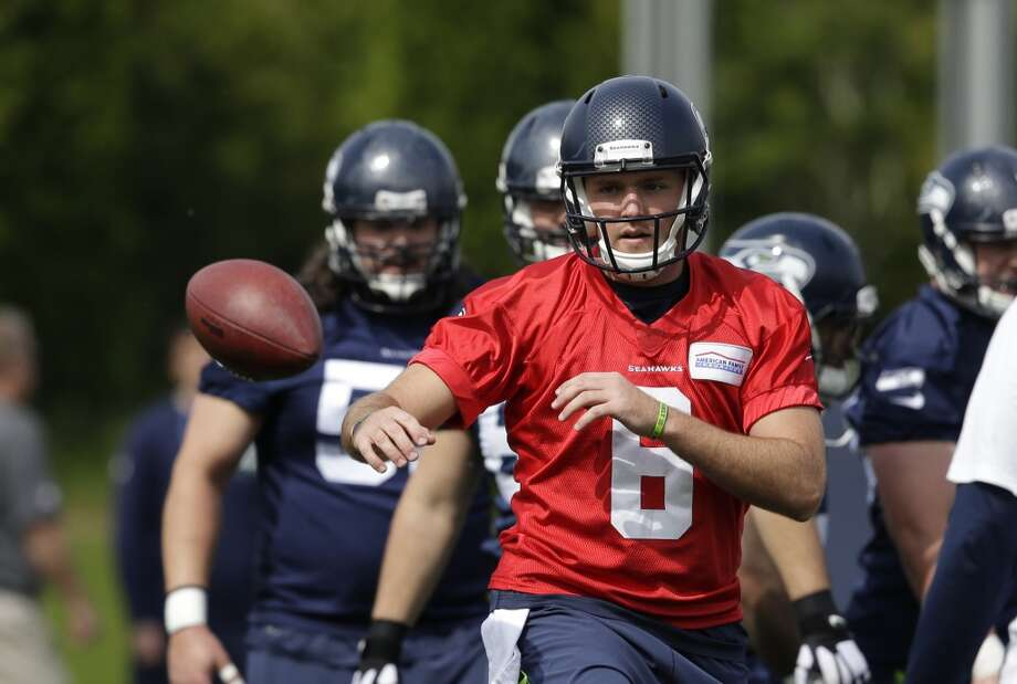 1. Archer making a case for No. 2? R.J. Archer has been one of two quarterbacks on the Seahawks' offseason roster throughout OTAs, splitting reps with B.J. Daniels for most of the first week, then playing behind Russell Wilson once Wilson returned from Florida. The former William & Mary and Arena Football League star has had his moments during the open sessions, but it seems like a foregone conclusion that the Hawks will bring in a veteran to compete with the 6-foot-2, 220-pounder for the backup spot. Photo: Elaine Thompson, Associated Press