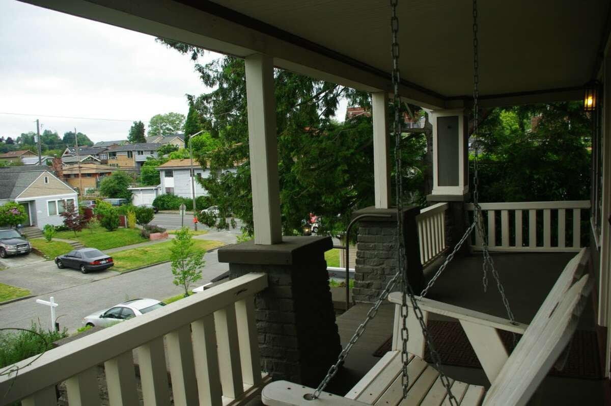 The porch of 4408 Cascadia Ave. S.