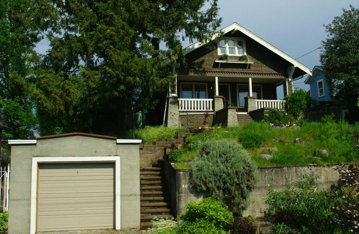 The first home, 4408 Cascadia Ave. S., is listed for $629,000. The four bedroom, one-and-three-quarters bathroom home sits on a small knoll that gives it a view of a surrounding neighborhood. Genesee Park is also a short walk away. You can see the full listing here.