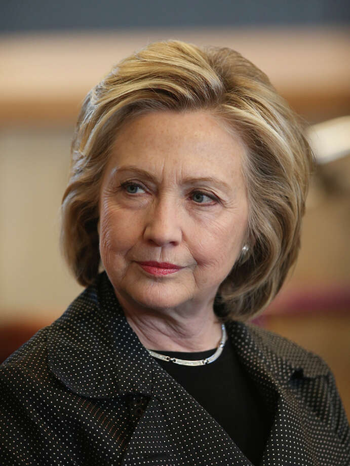 """Hillary Rodham Clinton says she'd appoint justices who won't protect """"the right of billionaires to buy elections."""" Photo: Scott Olson / Scott Olson / Getty Images / 2015 Getty Images"""