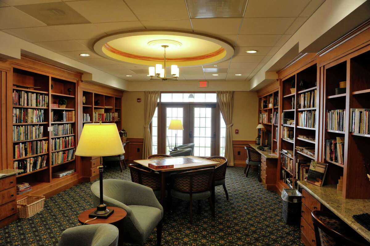 A view of the library at the Shaker Pointe at Carondelet, an independent living community on Monday, June 8, 2015, in Watervliet, N.Y. The library also has computers and a vision reader. In late May, 56 new units were finished which brings the total number of units from phase one and phase two to 162. (Paul Buckowski / Times Union)