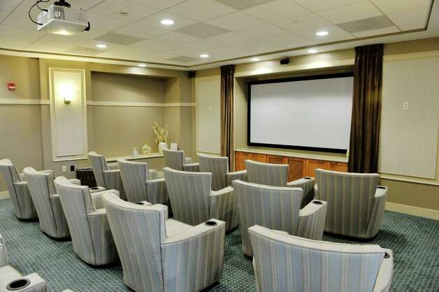 A view of the theater at the Shaker Pointe at Carondelet, an independent living community on Monday, June 8, 2015, in Watervliet, N.Y. In late May, 56 new units were finished which brings the total number of units from phase one and phase two to 162.     (Paul Buckowski / Times Union) Photo: PAUL BUCKOWSKI / 00032130A