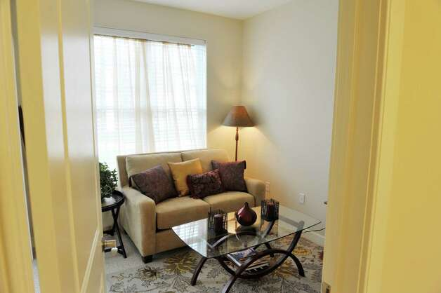 A view of the den inside one of the units at the Shaker Pointe at Carondelet, an independent living community on Monday, June 8, 2015, in Watervliet, N.Y. This unit is a one bedroom with a den. Units come as a one bedroom, a one bedroom with a den or a two bedroom. In late May, 56 new units were finished which brings the total number of units from phase one and phase two to 162.     (Paul Buckowski / Times Union) Photo: PAUL BUCKOWSKI / 00032130A