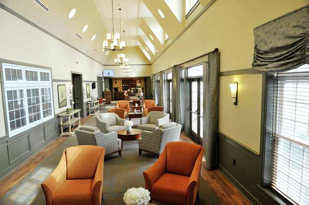 A view of Hospitality Hall at the Shaker Pointe at Carondelet, an independent living community on Monday, June 8, 2015, in Watervliet, N.Y. Hospitality Hall is an area where the general public has access to the beauty salon, barber shop, bistro and the Restaurant at the Pointe. In late May, 56 new units were finished which brings the total number of units from phase one and phase two to 162.     (Paul Buckowski / Times Union) Photo: PAUL BUCKOWSKI / 00032130A