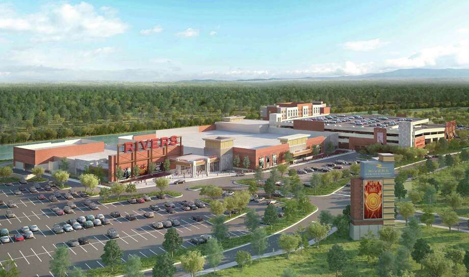 This new rendering of the redesigned casino shows an aerial view of the proposed Rivers Casino at Mohawk Harbor in Schenectady. (Rivers Casino at Mohawk Harbor) ORG XMIT: MER2015060414105732