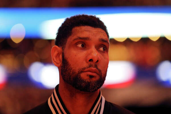 d986d2a29a4 3of14San Antonio Spurs  Tim Duncan stands during the national anthem before  Game 6 of the first round of the Western Conference playoffs against the  Los ...