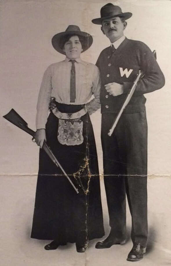 Plinky and Ad Toepperwein toured the country for decades together, amazing crowds with their sharpshooting skills. Photo: Courtesy Buckhorn Museum