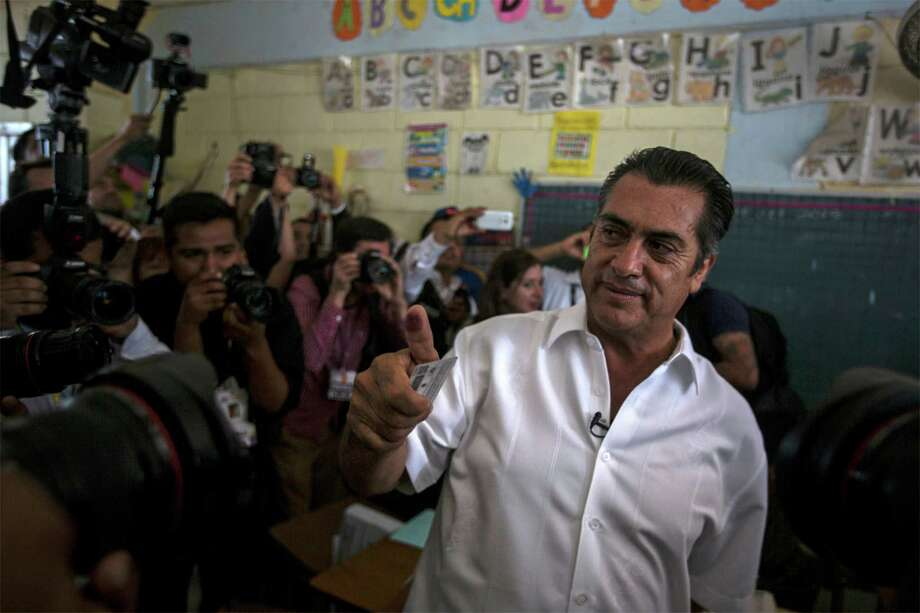 """Jaime Rodriguez, known as """"El Bronco,"""" defeated his closest rival by 25 percentage points in the race to be governor of Nuevo León state. Photo: Hans Maximo Musielik, STR / AP"""