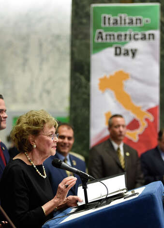 Matilda Cuomo, Governor Andrew Cuomo's mother was honored at the Italian Day celebration Monday afternoon in the well at the Legislative Office Building June 8, 2015 in Albany, N.Y.   (Skip Dickstein/Times Union) Photo: SKIP DICKSTEIN, ALBANY TIMES UNION / 00032066A