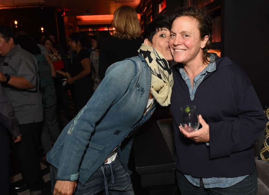 The San Francisco Chronicle celebrated its choice of the Top 100 Bay Area restaurants at Novela in San Francisco on June 8, 2015. From left: Dominique Crenn, (Chef-owner Atelier Crenn), and Traci Des Jardins (The Commissary). Photo: Susana Bates, Special To The Chronicle