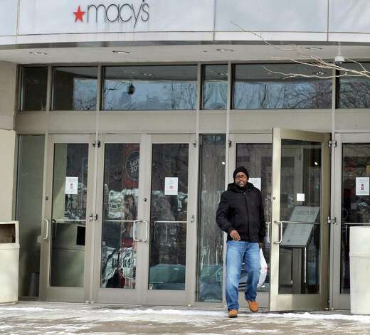 Gil Toliver of Broadalbin leaves the Macy's store at Rotterdam Square Mall Friday, Jan. 9, 2015, in Rotterdam, N.Y. (John Carl D'Annibale / Times Union) Photo: John Carl D'Annibale / 00030143A