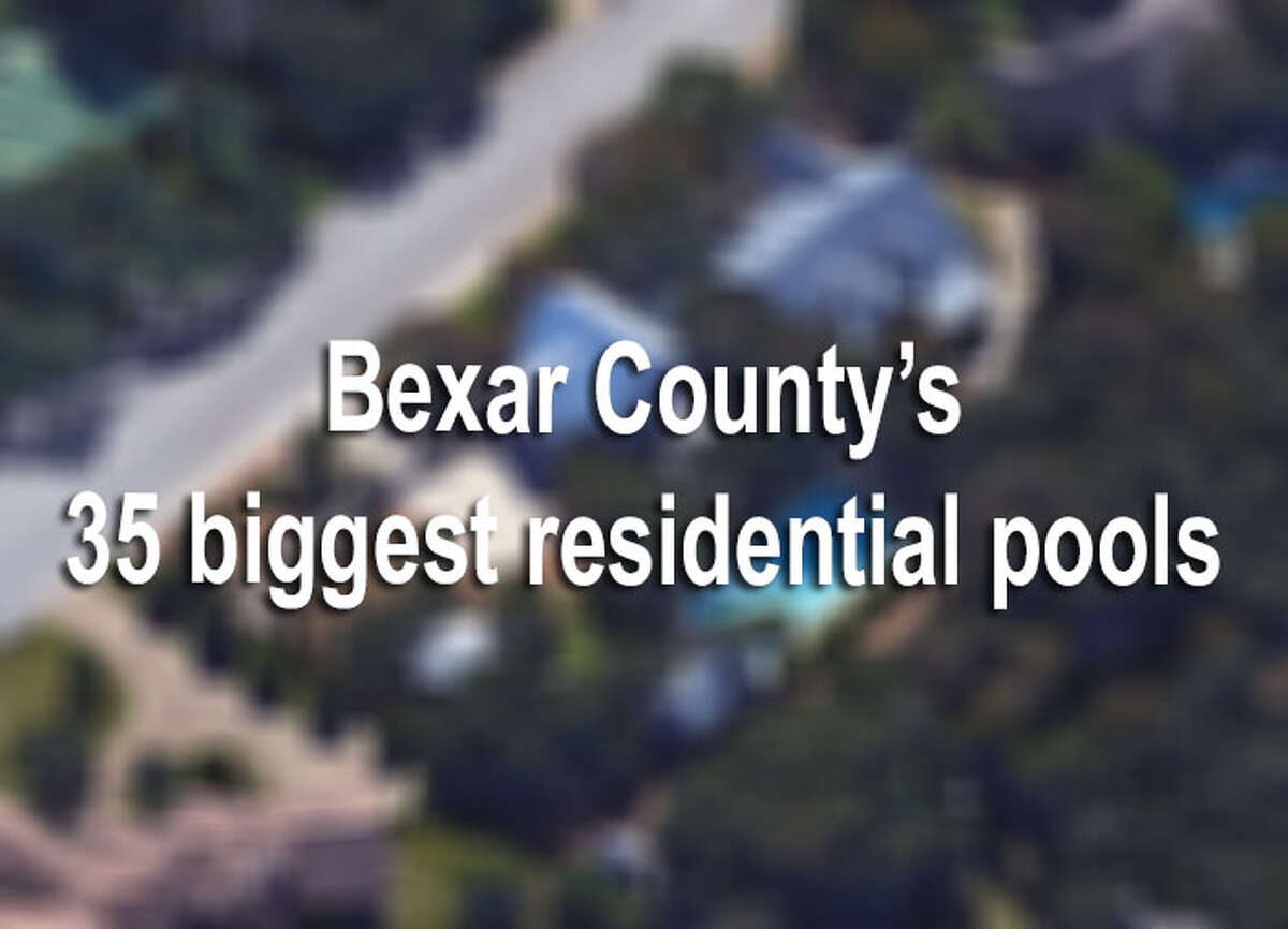 Looking at data from the Bexar County Appraisal District, we found that the biggest residential pools are almost the same size of modest homes. The largest pool, located in The Dominion, is a whopping 3,600 square feet, and the rest are located, mainly, in the north side. But overall, these behemoth pools contain everything needed for a backyard oasis. Keep clicking to see the county's 35 biggest residential pools.