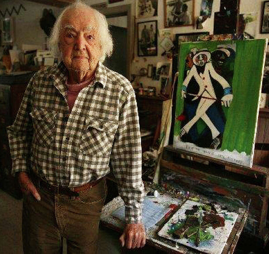 """A """"Centennial Celebration"""" is planned by the Westport Historical Society for Howard Munce, a longtime leader in the town's arts community, who is turning 100 this year. The celebration is not only of his art work, but of his 80 years of living in and lending his talents to the community. Photo: File Photo / westport news"""