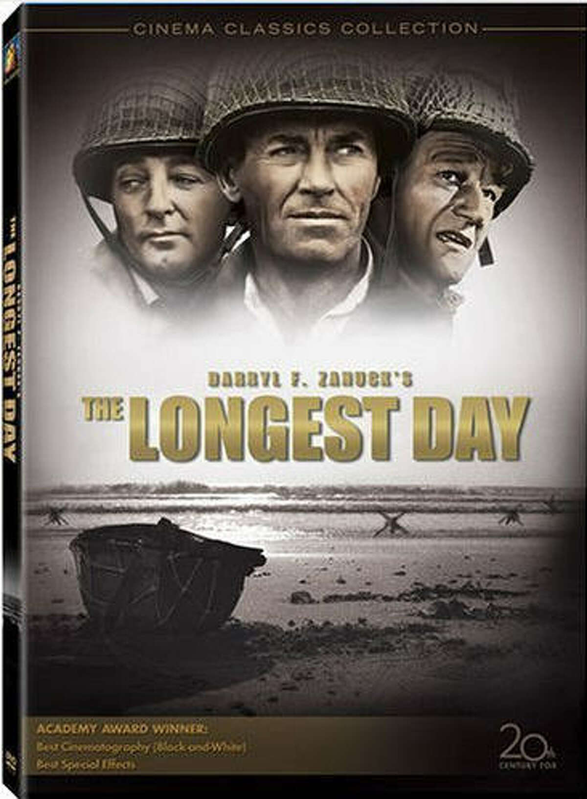 """""""The Longest Day"""" Plot: The Allied Forces land in Normandy, France for D-Day. American Themes: Being John Wayne, Fighting for Your Country, Winning Dubya-Dubya-Two, Waving the Flag, Fighting for What's Right, Being Brave. RottenTomatoes.com Score: 92 percent."""