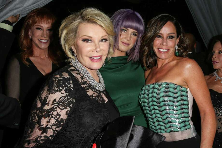 From left: Kathy Griffin, Joan Rivers, Kelly Osbourne and Melissa Rivers at the 2014 Hyundai / Grammys Clive Davis Pre-grammy Gala Activation + Equus Fleet Arrivals at The Beverly Hilton Hotel on January 25, 2014 in Beverly Hills, California. Photo: Chelsea Lauren /Getty Images For Hyundai / 2014 Getty Images