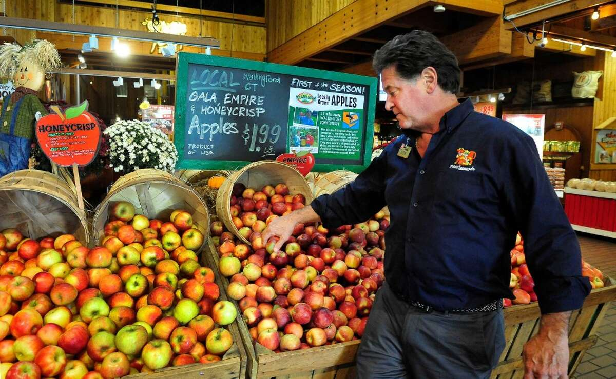 The produce is fresh, high quality, and affordably priced. Pictured here is Stew Leonard Jr., the current CEO of the chain of stores.