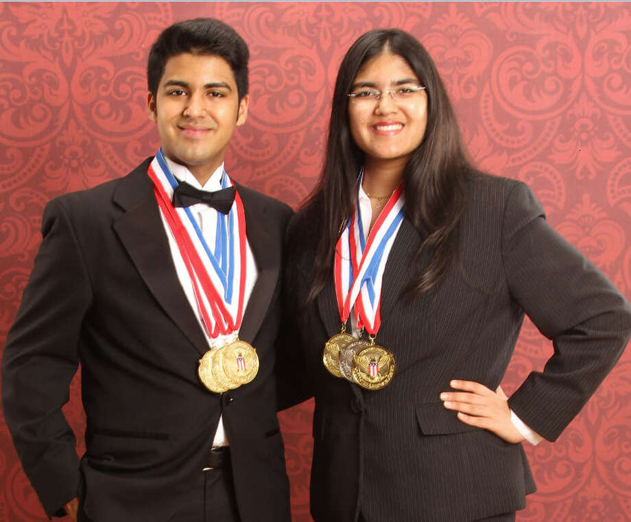 Seven Lake High School students Siddhant Ahuja, left, and Smriti Ahjua, 16, have earned recognition for their volunteer efforts.Seven Lake High School students Siddhant Ahuja, left, and Smriti Ahjua, 16, have earned recognition for their volunteer efforts. Photo: Courtesy