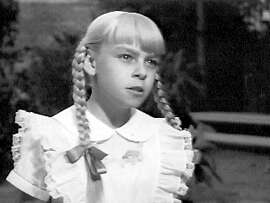 """Patty McCormack in """"The Bad Seed""""  Ran on: 09-05-2004   Ran on: 10-14-2011 Patty McCormack, in &quo;The Bad Seed,&quo; will be at the Castro on Saturday when the camp classic will be shown."""