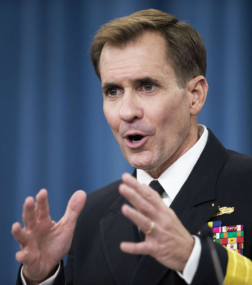 "Retired Rear Admiral John Kirby acknowledged the U.S. lacks a ""complete strategy"" for training Iraqi security forces. Photo: Paul J. Richards, AFP / Getty Images"