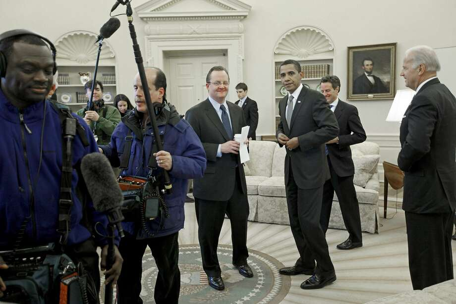 Robert Gibbs, with President Obama in 2009, is the new communications director of McDonald's. Photo: Charles Dharapak, AP