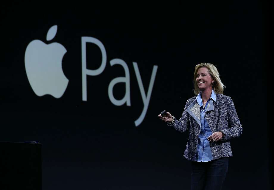 Jennifer Bailey, an Apple vice president, discusses the expansion of Apple Pay to 1 million locations at the devel opers con ference in S.F. Photo: Justin Sullivan, Getty Images