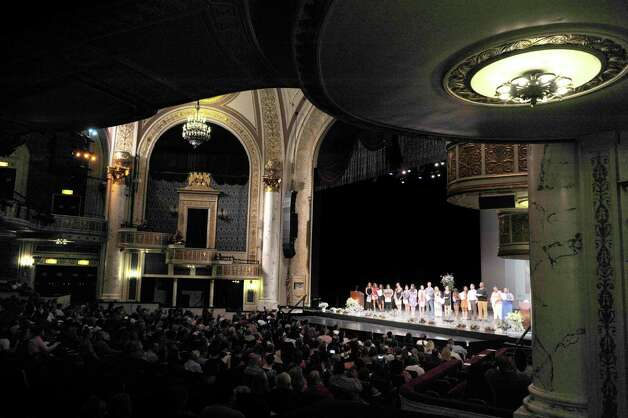 Students in the Nurse Assistant program come up on stage to receive their certificates as students in the Capital Region BOCES program took part in the Capital Region Career and Tech Awards and Recognition Ceremony on Tuesday, June 9, 2015, at Proctors Theater in Schenectady, N.Y.   (Paul Buckowski / Times Union) Photo: PAUL BUCKOWSKI / 00032203A