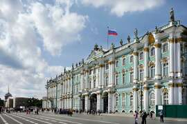 St. Petersburg's enormous Winter Palace, once the home of the czars, is now the home of the Hermitage Museum. RS13Summer_0692.JPG